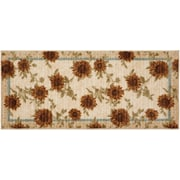 Brumlow Mills Delicate Sunflower Kitchen Rug; Half Circle 1'8'' x 3'8''
