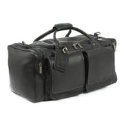 Claire Chase Hampton's 20'' Leather Travel Duffel; Black