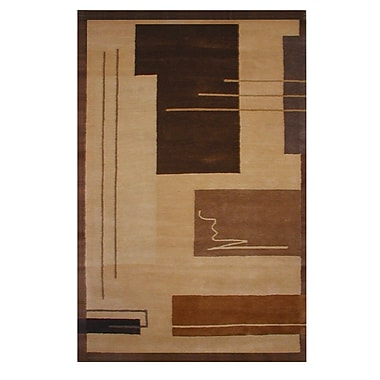 American Home Rug Co. American Home Metro Gold/Brown Area Rug; 8'6'' x 11'6''