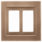 RQ Home Double GFCI Magnetic Wall Plate; Classic Bronze