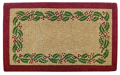 Nedia Home Holly Ivy Border Doormat