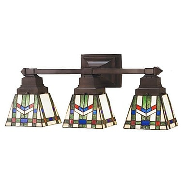 Meyda Tiffany Prairie Wheat 3 Light Vanity Light