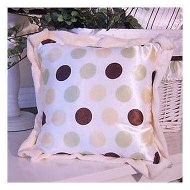 Brandee Danielle Ash Polka Dot Throw Pillow; Lemon Polka Dot