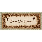 Brumlow Mills Berry Blossoms Blessing Kitchen Brown Novelty Rug; Half Circle 1'8'' x 3'8''