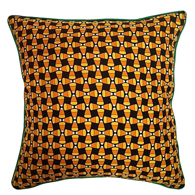 Filos Design Holiday Elegance Candy Corn Silk Throw Pillow