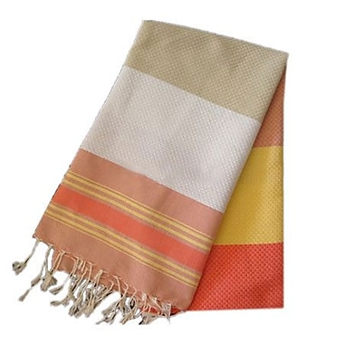 Scents and Feel Fouta Honeycomb Weave Towel; Sunny