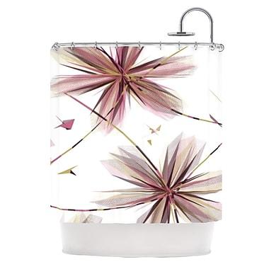KESS InHouse Flower Shower Curtain; Aubergine