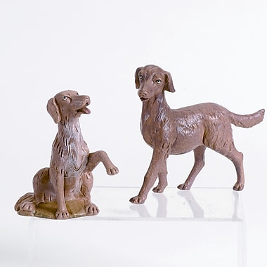 Fontanini Two Piece Dog Figurine Set