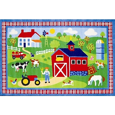 Fun Rugs Olive Kids Country Farm Green Area Rug; 1'7'' x 2'5''
