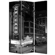 Screen Gems 72'' x 48'' Chicago 3 Panel Room Divider