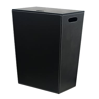 WS Bath Collections Complements Ecopelle Laundry Hamper; Black