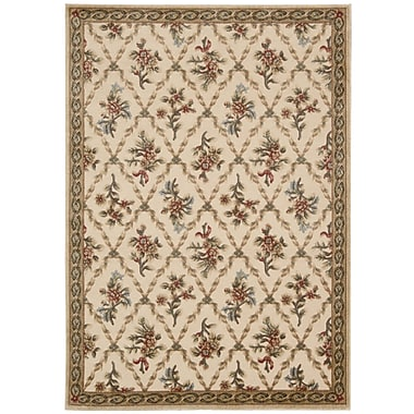 Kathy Ireland Home Gallery Villa Retreat Washing Estate Cream Area Rug; Runner 2'3'' x 8'