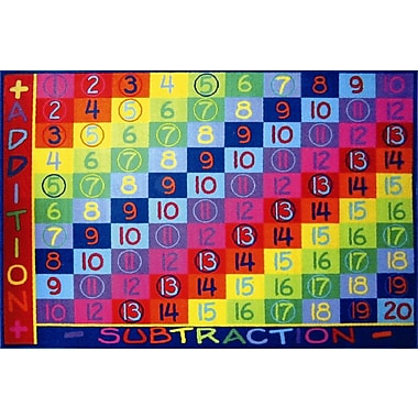 Fun Rugs Fun Time Addition Classroom Area Rug; 5'3'' x 7'6''