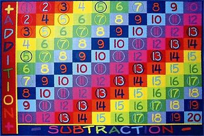 Fun Rugs Fun Time Addition Classroom Area Rug; 5'3'' x 7'6''