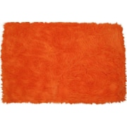 Fun Rugs Flokati Orange Area Rug; 2'7'' x 3'11''