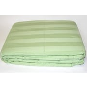 Cotton Loft 300 Thread Count All Natural Down Alternative 100pct Cotton Filled Throw; Light Green