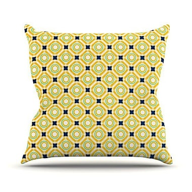 KESS InHouse Tossing Pennies II Throw Pillow; 18'' H x 18'' W