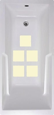 No Slip Mat by Versatraction Squares Bath Tub and Shower Treads (Set of 5); Cream