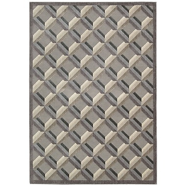 Nourison Graphic Illusions Black/Gray Geometric Area Rug; 2'3'' x 3'9''
