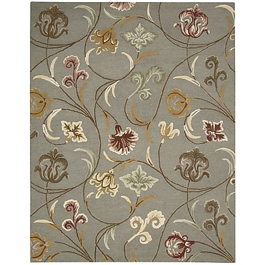 Nourison In Bloom Hand-Tufted Gray Area Rug; 2'6'' x 4'