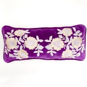 Debage Inc. Plush Flowers Boudoir Pillow; Plum