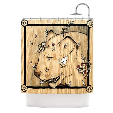 KESS InHouse Panther Shower Curtain