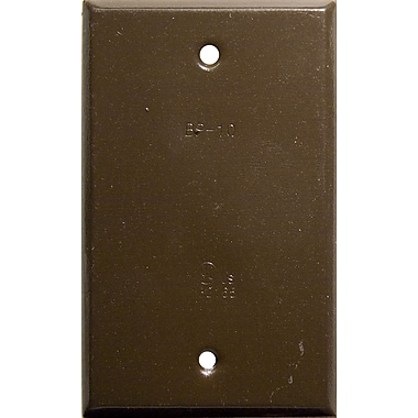 Morris Products Vertical Blank One Gang Weatherproof Covers in Bronze
