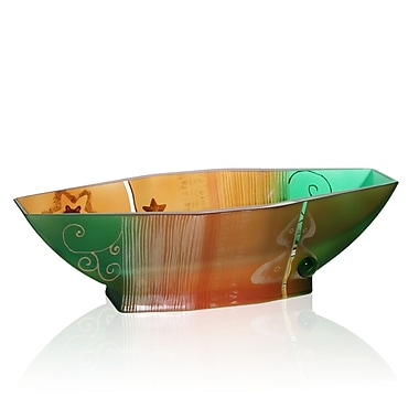 Womar Glass Holiday Decorative Bowl
