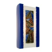 A19 ReFusion Abstract 1-Light Wall Sconce; Cobalt Blue and Multi Sapphire