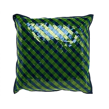 Cloud9 Design Vinyl Accent Throw Pillow; Blue / Green