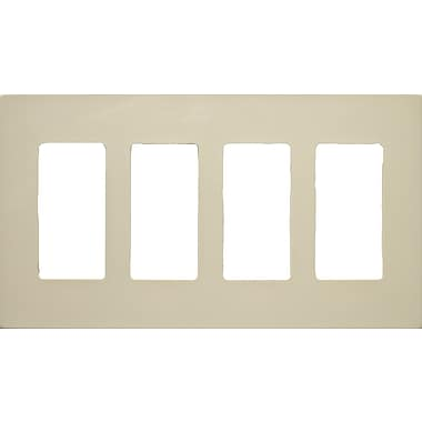 Morris Products 4 Gang Decorator Screwless Snap in Wall Plates in Ivory