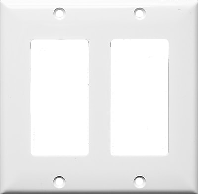 Morris Products 2 Gang Decorator / GFCI Lexan Wall Plates in White