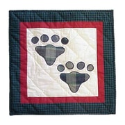 Patch Magic Fido Paw Cotton Throw Pillow