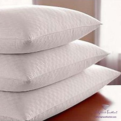 Highland Feather Damask Goose Down Pillow; King