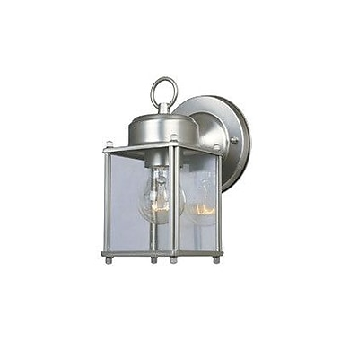 Designers Fountain Budget Cast Aluminum 1-Light Outdoor Wall Lantern; Pewter