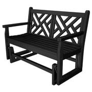 POLYWOOD  Chippendale Glider; Black
