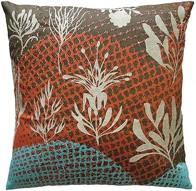 Koko Company Ecco Embroidered Cotton Throw Pillow