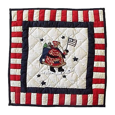 Patch Magic Colonial Santa Cotton Throw Pillow