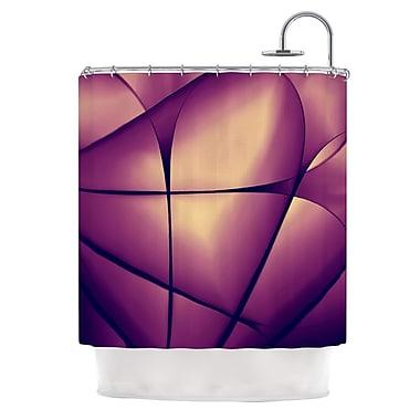 KESS InHouse Paper Heart Shower Curtain