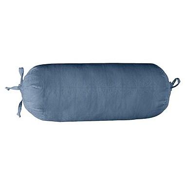 Pointehaven 650 Thread Count Jacquard Cotton Bolster Pillow; Celestial Blue