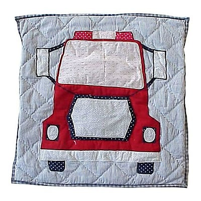 Patch Magic Fire Truck Cotton Throw Pillow