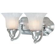 Dolan Designs Richland 2-Light Vanity Light; Satin Nickel
