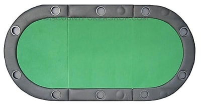 JP Commerce Padded Texas Hold'em Folding Poker Table Top w/ Cup Holders in Green WYF078276032099