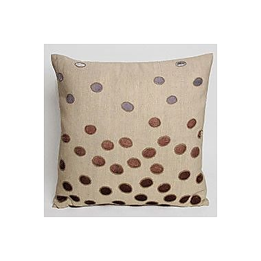 Kevin O'Brien Studio Ovals Embellished Throw Pillow; Iris