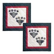 Patch Magic Fido-Paw Cotton Throw Pillow (Set of 2)