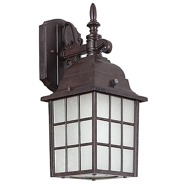 Sunset Lighting 1-Light Outdoor Wall Lantern; Rubbed Bronze