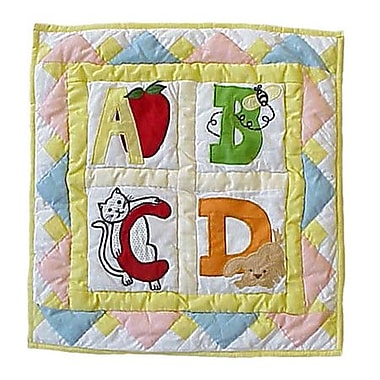 Patch Magic ABC Cotton Throw Pillow