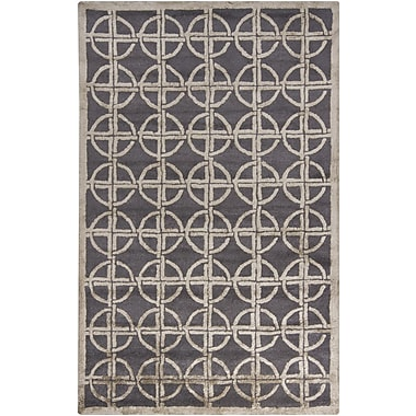 Chandra Harrow Grey Geometric Area Rug; 5' x 8'
