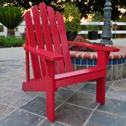 Shine Company Inc. Marina Adirondack Chair; Chili Pepper