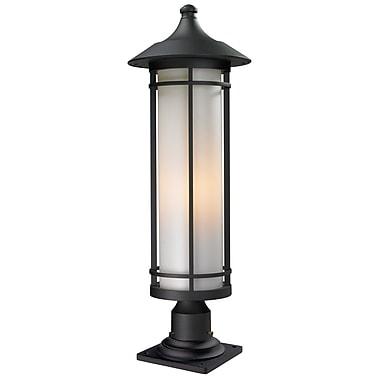 Z-Lite Woodland Outdoor 1-Light Pier Mount Light; 29.75'' H x 10'' D